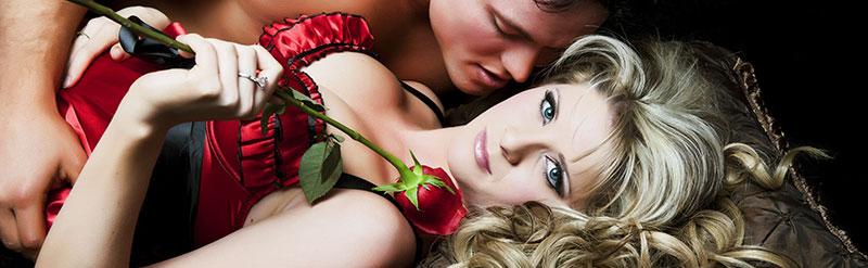 De man ziet graag zijn erotische fantasie in vervulling gaan op Valentijnsdag!